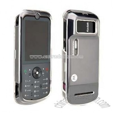 Open Front and Clear Back Shell without Belt Clip for Motorola ZN5 MotoZine