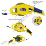 Open Reel Fast Rewind Nylon Coated Steel Tape Measure