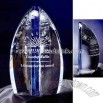 Optic 1/2 egg shaped crystal award