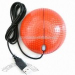 Optical Mouse in Basketball Shape Design