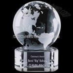 Optical crystal globe award