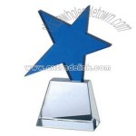 Optical crystal meteor award