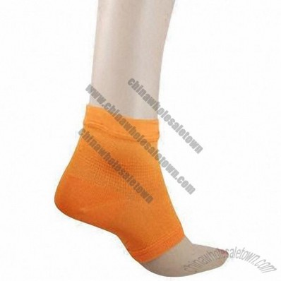 Orange Knitted Ankle Support for Sports Protection