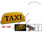Orange Light Magnetic Base Taxi Cab Roof Sign Light Lamp DC 12V