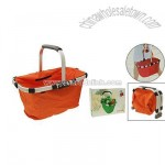 Orange Portable Folded Shopping Canvas Basket Carrybag