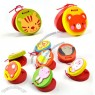Orff Instruments Child Percusses Cartoon Wooden Castanet Animal Roundelay Plate Baby Music Toy