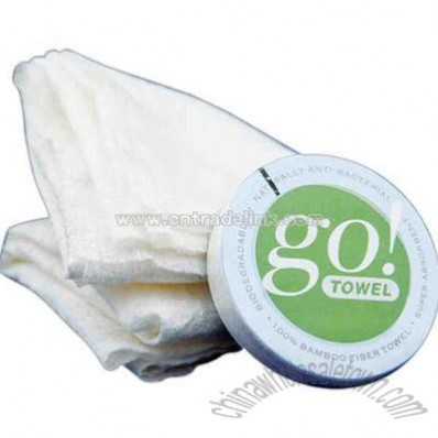 Organically grown bamboo compressed towel