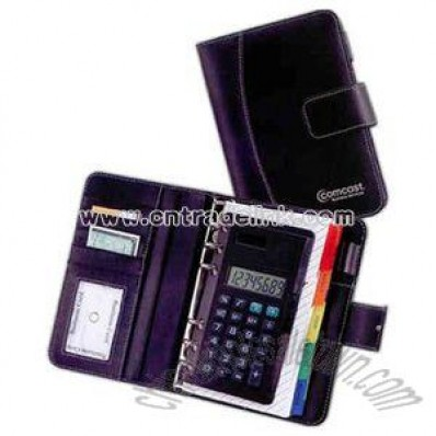 Organizer portfolio with comfortable key design digit calculator