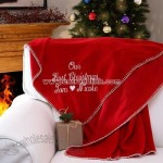 Our First Christmas? Personalized Blanket