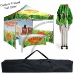 Outdoor EZ Pop Up Canopy Tent 10'x10' Custom Printed Full Color Canopy Kit