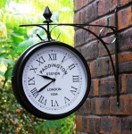 Outdoor Garden Paddington Station Bracket Double Sided Wall Clock