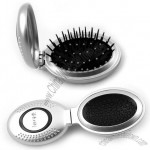 Oval Folding Comb with Mirror