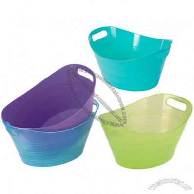 Oval Plastic Ice Bucket