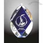 Oval Shape with Diamond Cut Acrylic Award