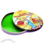 Oval Shaped CD/DVD Tin Case