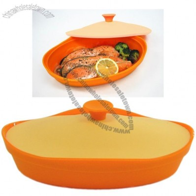 Oval Silicone Microwave Oven Steamer