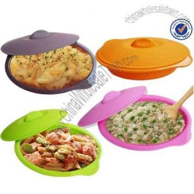 Oval Silicone Steamer Bowl With Lid