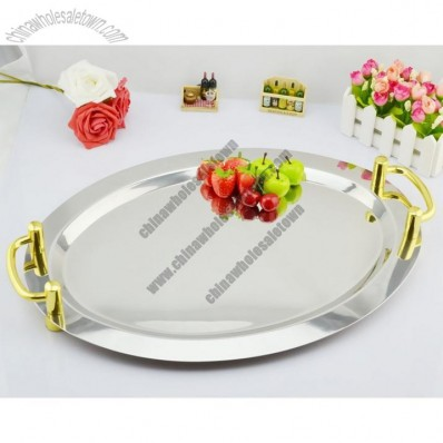 Oval Stainless Steel Fruit Tray