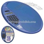 Oval mouse pad with calculator