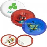 Oval sewing kit with mirror