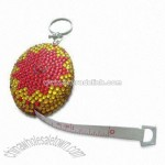 Oval-shaped Measuring Tape with Rhinestones