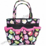 Owl bingo bag Large/great for craft and make-up organizer