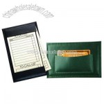Oxford bonded leather note jotter with card pocket