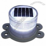 PC LED Solar Security Warning Light with IP 67 IP Grade