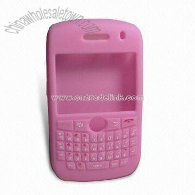PDA Silicone Case for Blackberry 8900 with Button Silk Printing