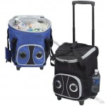PICNIC OUTDOOR CAMPING ROLLING SPEACKER COOLER ON WHEEL