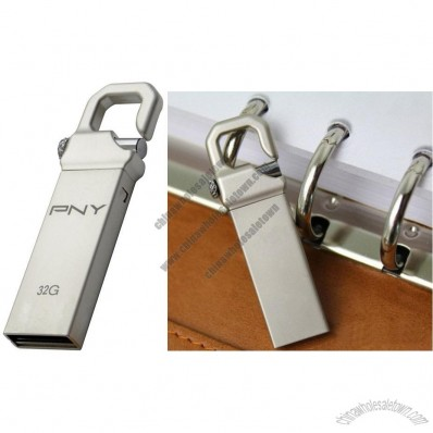 PNY Hook 2GB-32GB USB Flash Pen Drive Disk Stick Metal