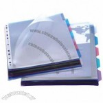 PP File folder with Insertable Tab Index