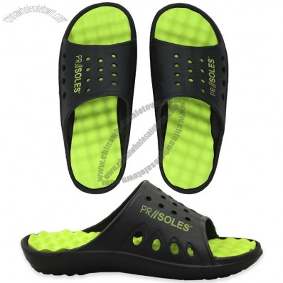 PR Soles Recovery Sandals - Black/Neon Green