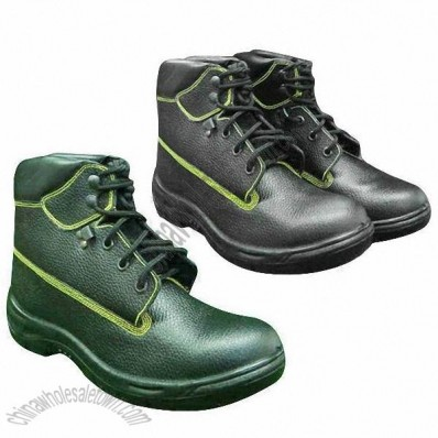 PU Injection Full-Grain Leather Safety Shoes