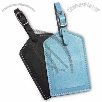 PU Leather Luggage Tag with Strap and Window