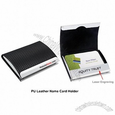 PU Leather Name Card Holder