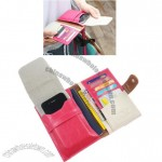 PU Leather Travel Wallet/Passport Case for iPhone & Cards