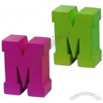 PU Letter M Stress Ball Reliever