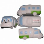 PU Smile Face Car Reliever Stress Balls