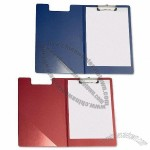 PVC Fold-over Clip Board with Front Pocket Foolscap