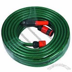 PVC Garden Hose, Used for Irrigation and Washing in Garden Black Color with Yellow Line