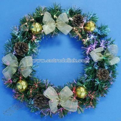 PVC Optic Fiber Decorative Wreath