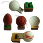 PVC Sports Balls USB Flash Drives