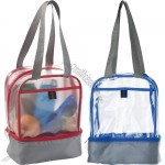 PVC Transparent Lunch Bag with Thermal insulation layer