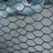 PVC-coated hexagonal wire mesh, 1/2 to 2-inch aperture
