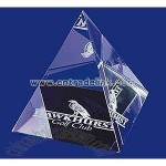 PYRAMID LEAD CRYSTAL PAPERWEIGHTS