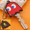 Pac-Man Monsters Rubber Key Cover Ball Chain