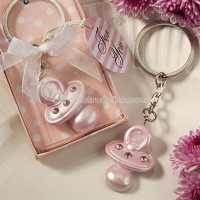 Awesome Pacifier Keychain Baby Shower Favors