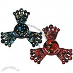Paint Splatter Crown Fiddle Toy Metal Fidget Spinner