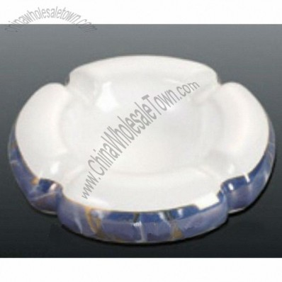 Painted Ceramic Art Ashtray